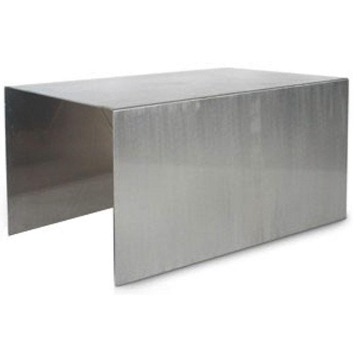 brushed aluminum buffet table rentquestnyc