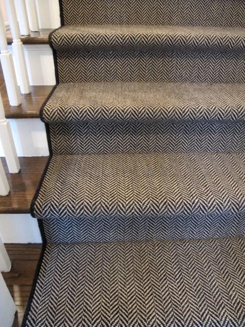 Our Top Picks Stair Runners | Grey Herringbone Carpet Stairs | Antelope | Victorian | Middle Stair | Roger Oates | Blue