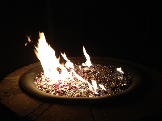 Backyard Propane Fire Pit, Pavers and Outhouse Project ... on Propane Fire Pit Ace Hardware id=83018