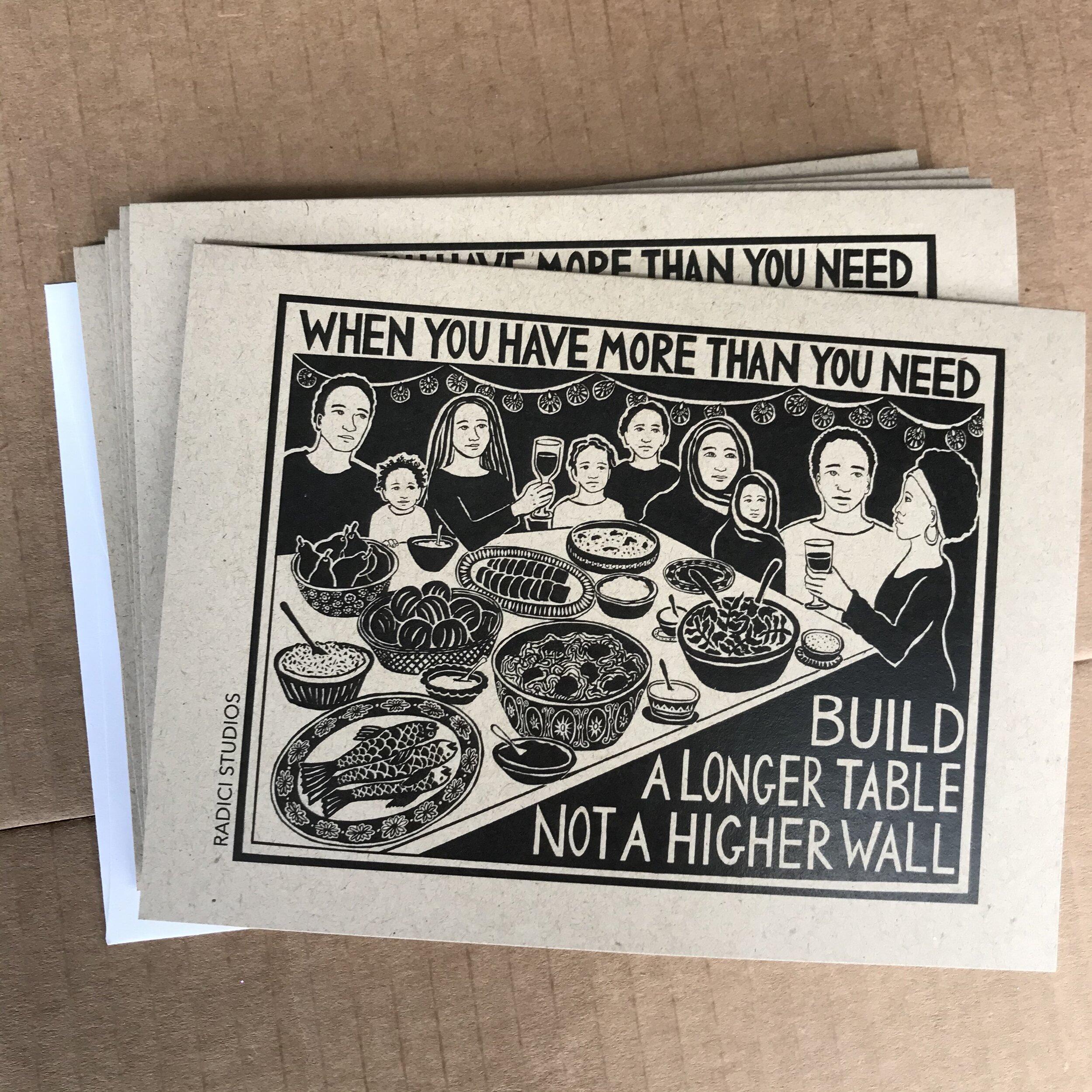 build a longer table card set radici studios
