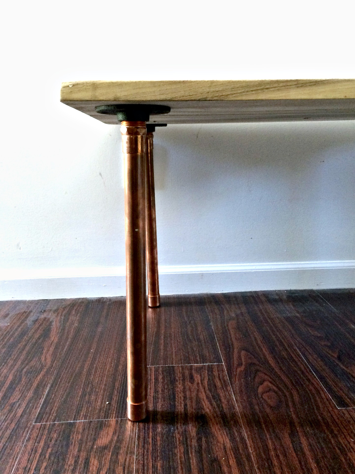 copper leg diy coffee table