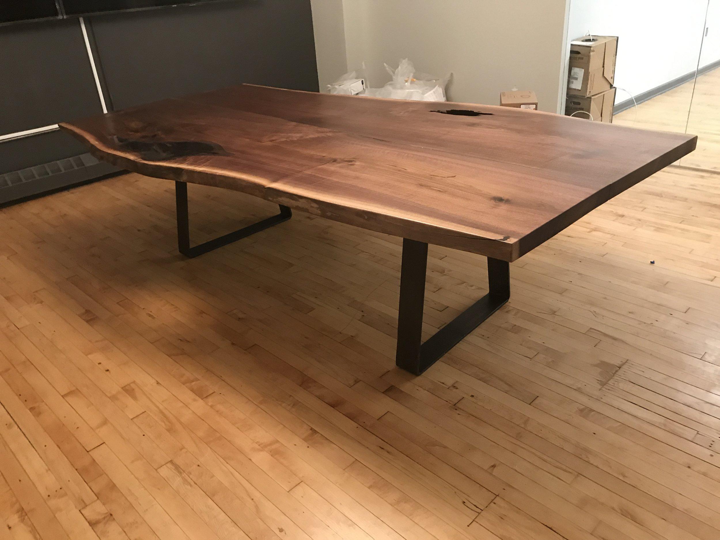 walnut board room table nycityslab