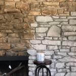 Our Farmhouse White Washing A Stone Fireplace Studio Quirk