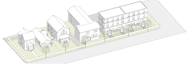 Image: Abby Kinney. Housing types for North Kansas City, Missouri's Form-Based Code.