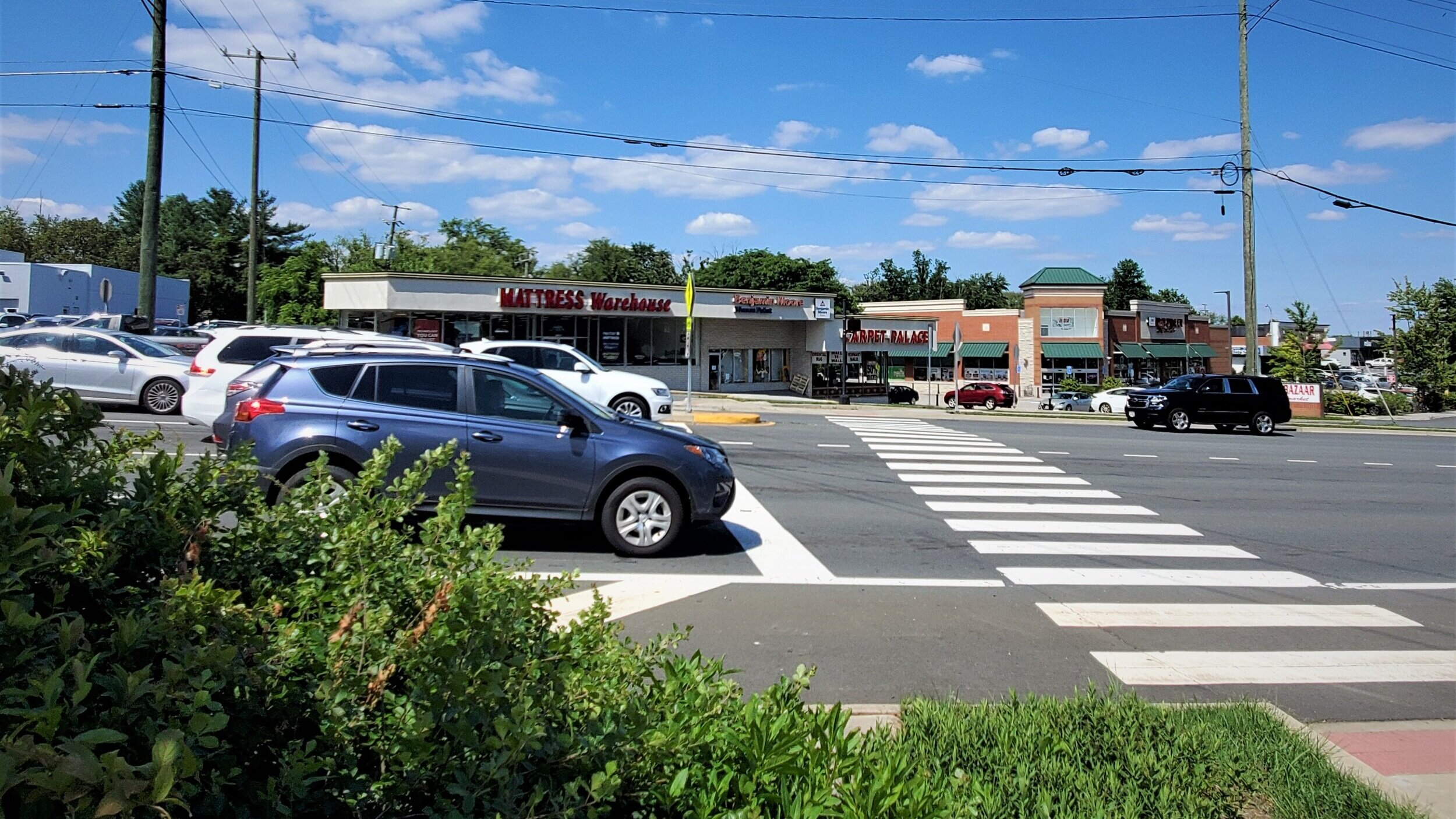 The timer for this very long crosswalk barely lasts long enough to cross, even at a brisk pace.