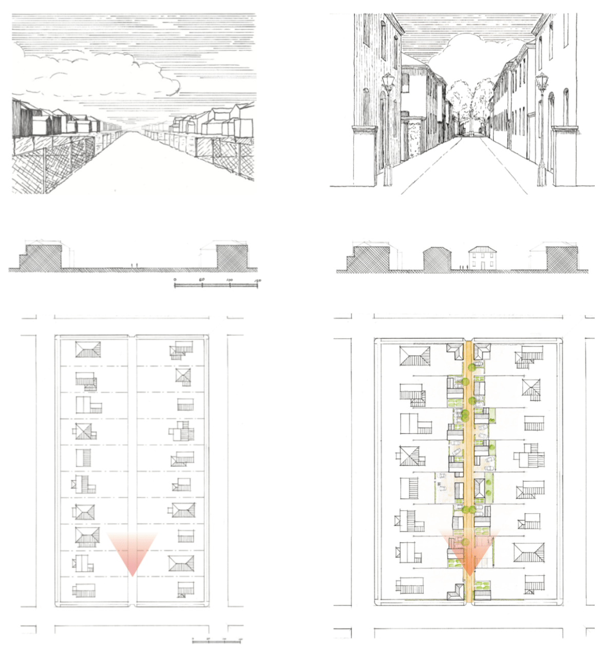 From service alley to minor street. (Click to enlarge.)