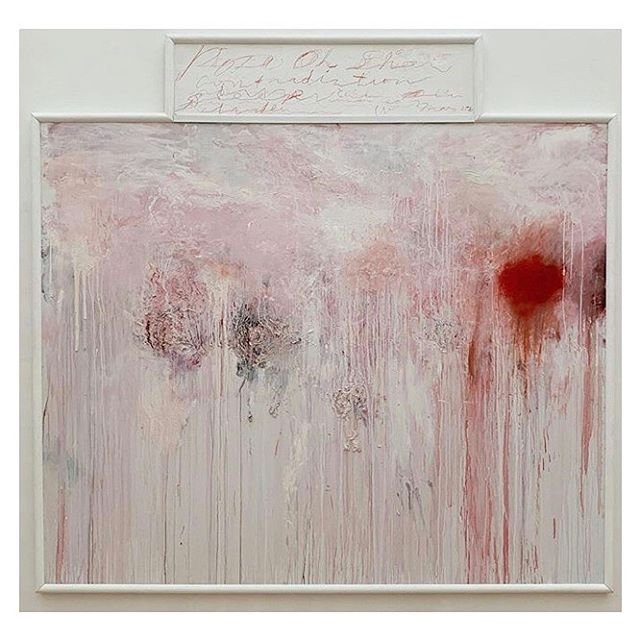 """Cy Twombly, """"Untitled (Analysis of the Rose as Sentimental Despair),"""" 1985 at the Menil Collection, a private museum in Houston designed by Renzo Piano. #cytwombly #menilcollection #menil #cytwomblygallery #houston #postwarart #abstractexpressionism #contemporaryart #cqinspiration #renzopiano #americanartist #abstractart"""