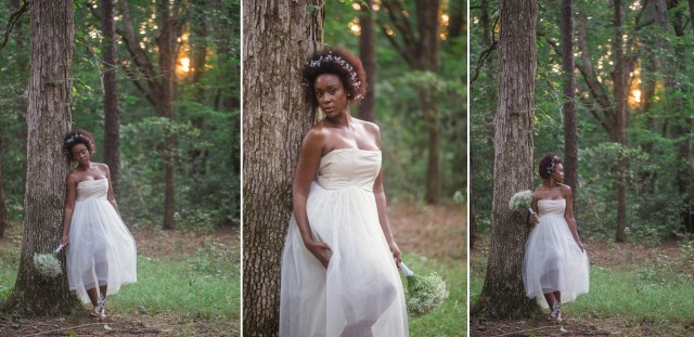 natural hair, natural bride - bridal session in fayetteville