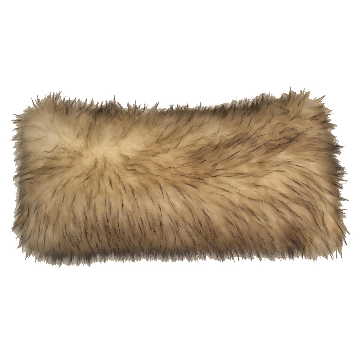 Lannister Wolf Faux Fur Lumbar Pillow Dragon 88
