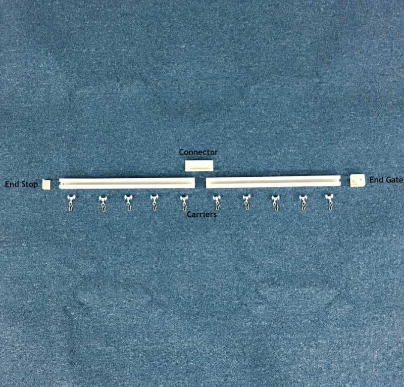 cubicle curtain track hardware