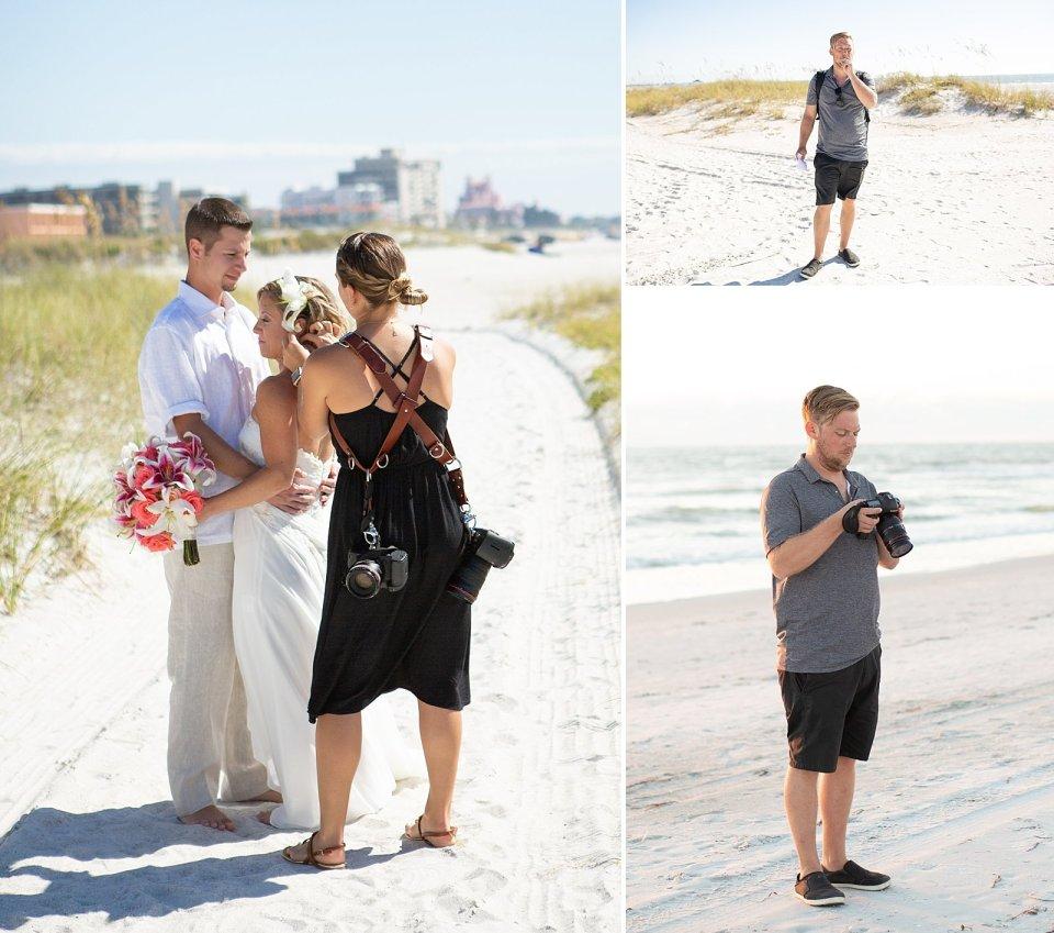 Beach hair, don't care! Not my best wedding bun… but on a beach, who cares?!
