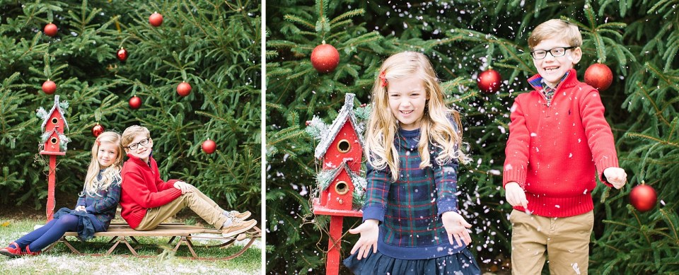 Family Christmas portrait session with Ashley Mac Photographs in New Jersey