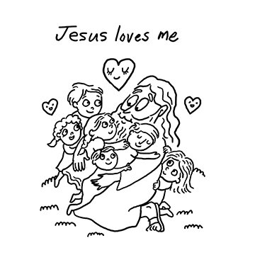 Jesus Loves Me Coloring Page Click For More Details Annie Poon