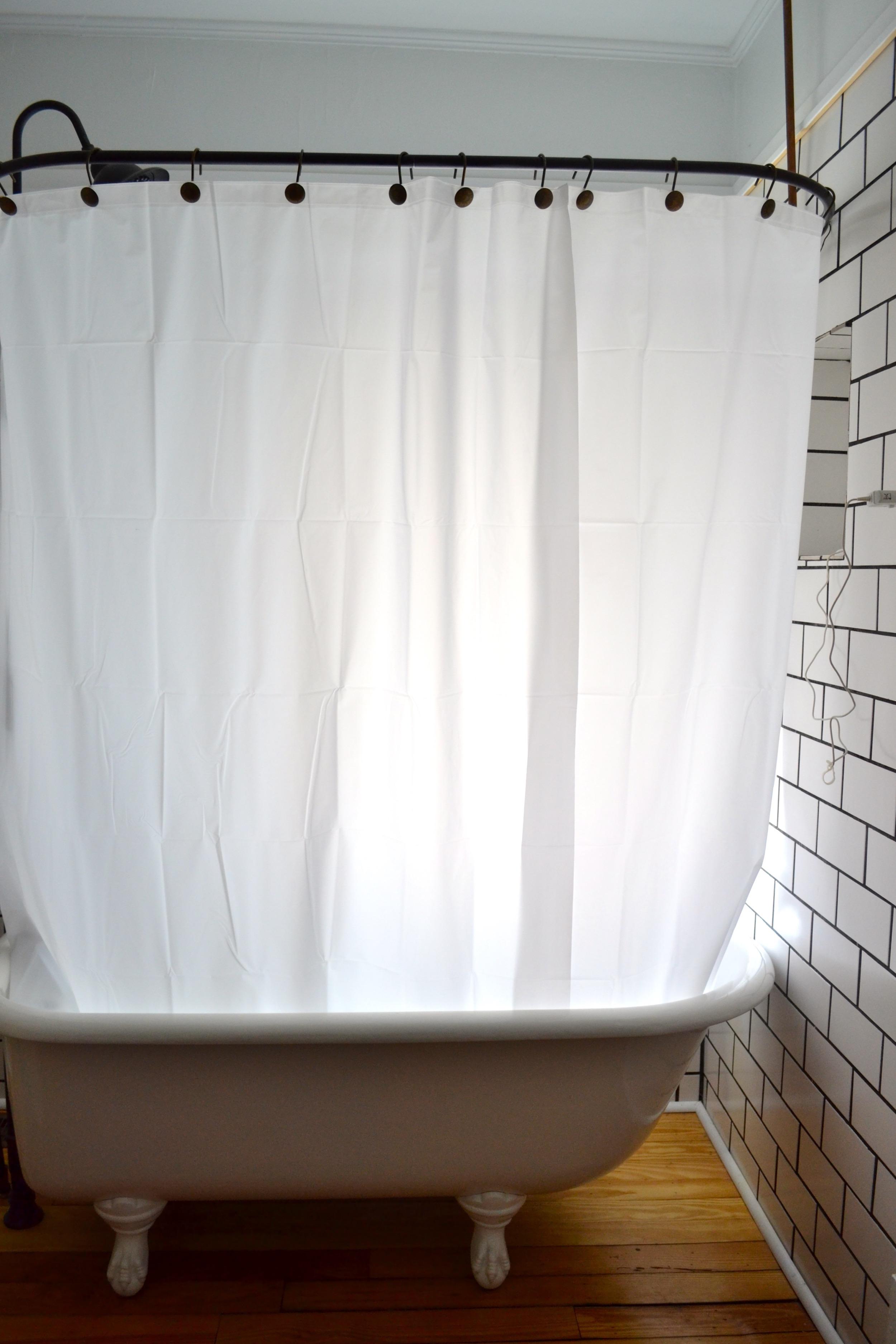 clawfoot tub shower sticking problem