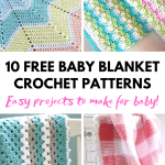 10 Adorable And Easy Baby Blanket Free Crochet Patterns Blog Nobleknits