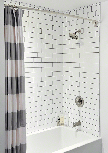 white subway tile 3x6 75 cabinets