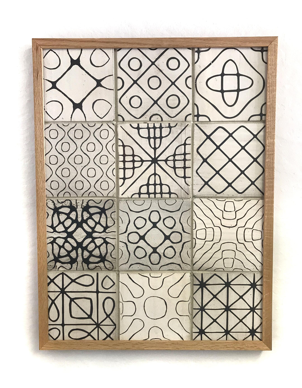variegated sound wave tile wall hanging flm ceramics and tile