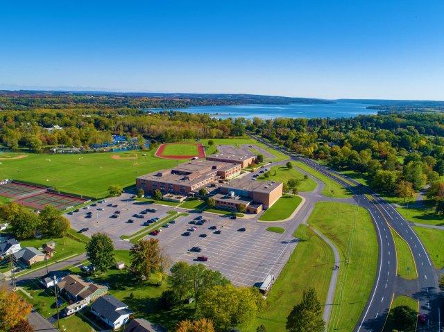 Auburn High School and Owasco Lake