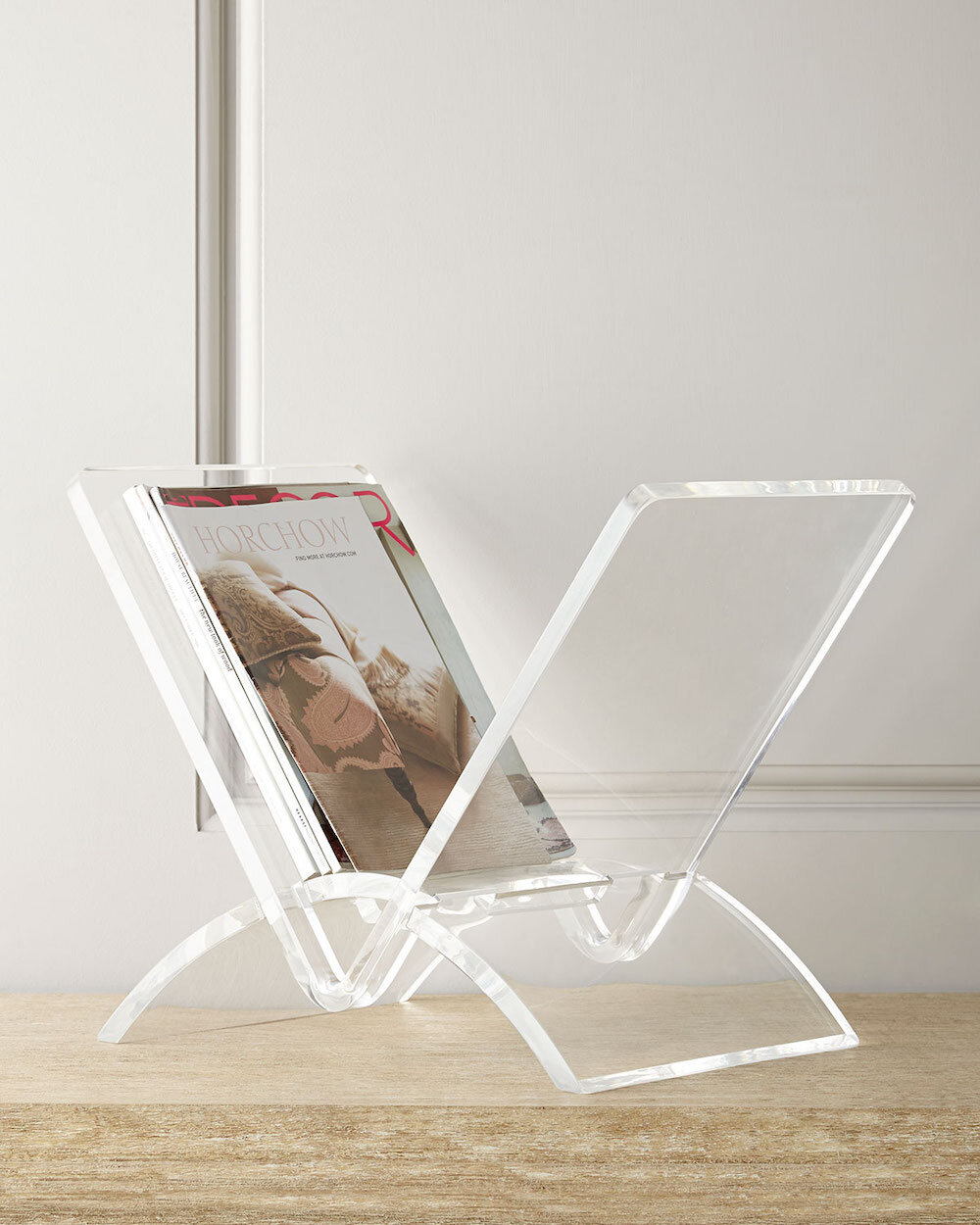 versa acrylic magazine rack parisa