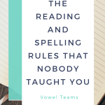 Vowel Teams The Reading Spelling Rules That Nobody Taught You Smarter Intervention