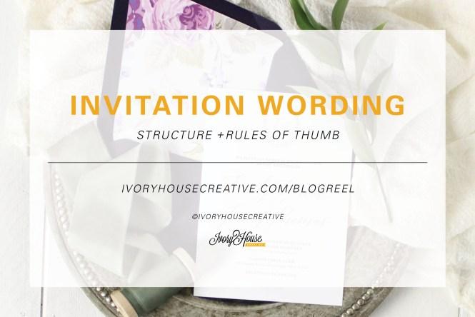 Wedding Invitation Wording The