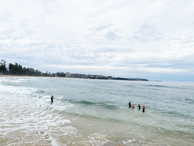 Manly Beach close to Shelly Beach end - Photo Credit: @busycitykids