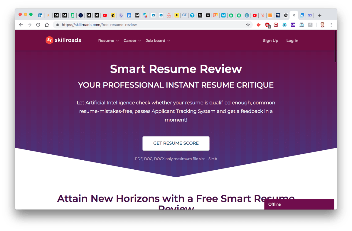 SkillRoads Smart Resume Review