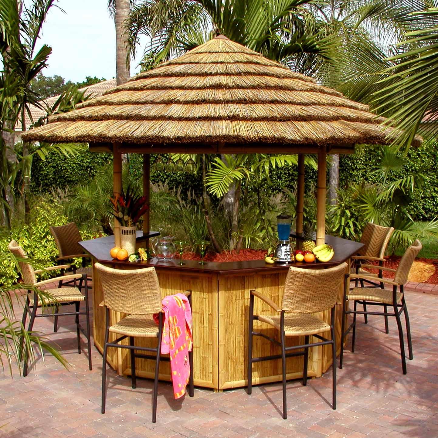 bamboo tiki bar thatch roofing