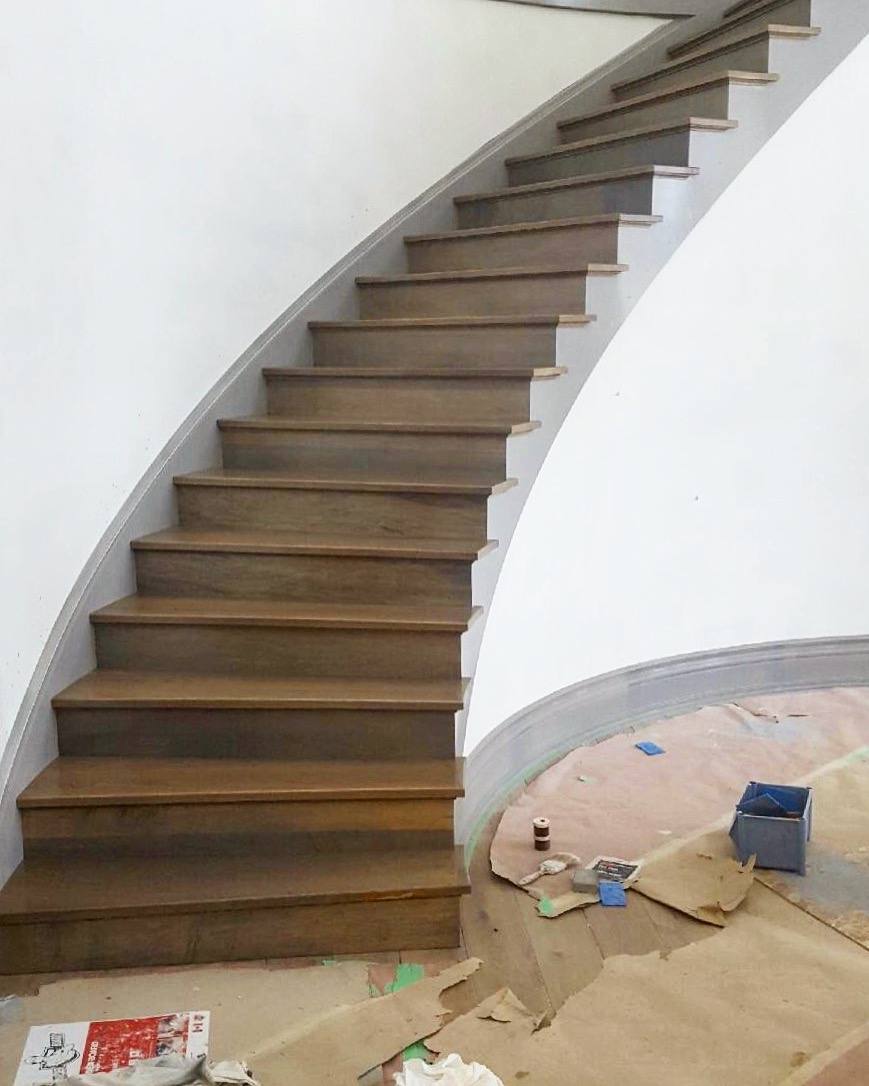 Stairhaus Inc Custom Stair Design And Construction Gallery Stairs | Front Side Staircase Design | Ground Floor Tower | Gallery Photo Indian | Parapet Wall Front | Italian Type House | Residential Stair Tower