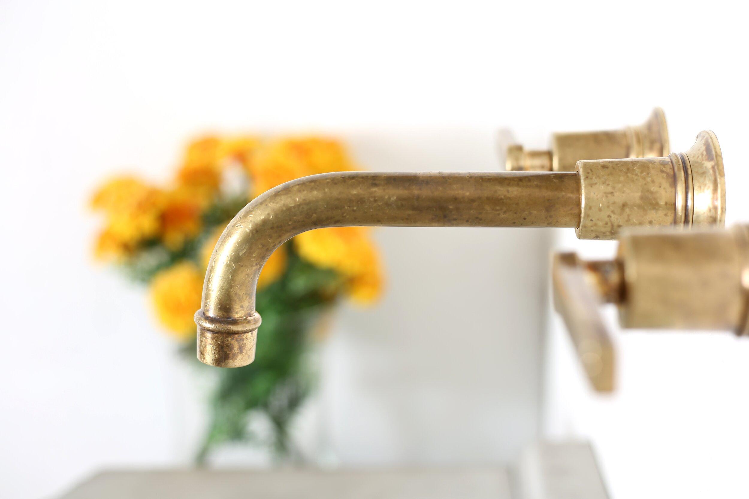 bathhouse lever handle wall mount faucet atmosphyre