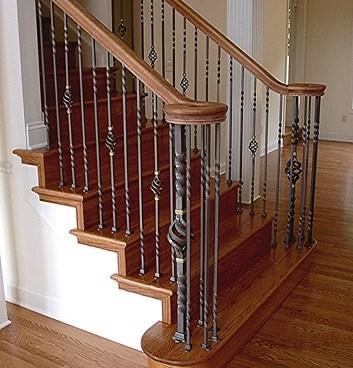 Gallery Of Wrought Iron Interior Railings — Wrought Iron Railings   Wrought Iron Railing Interior   Walnut Iron   Wood   Farmhouse   Country Style   Horizontal