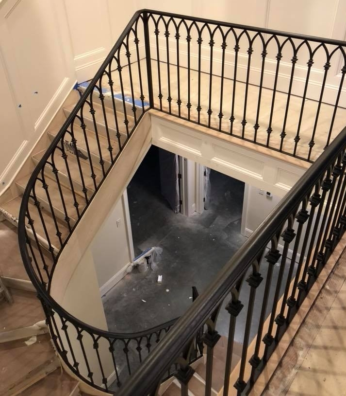 Gallery Of Wrought Iron Interior Railings — Wrought Iron Railings   Custom Iron Stair Railing   Residential   French   Metal   Banister   Iron Work