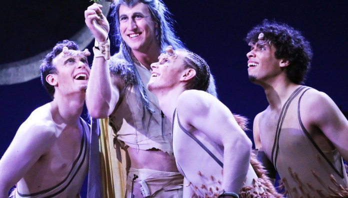 """Four members of the Connecticut Repertory Theatre's showing of """"A Midsummer Night's Dream."""" The show is set to run through May 2. (Connecticut Repertory Theatre)"""