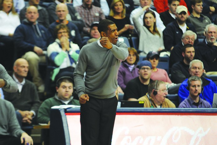 UConn men's basketball coach Kevin Ollie on the sideline during the Huskies' game against Central Florida at Gampel Pavilion in Storrs, Connecticut on Jan. 22, 2015. (File Photo/The Daily Campus)
