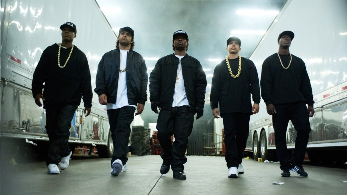 """""""Straight Outta Compton"""" documents the story of rap group N.W.A., and how its members rose from wannabe rappers and gangsters to national prominence. (Courtesy Universal Pictures)"""