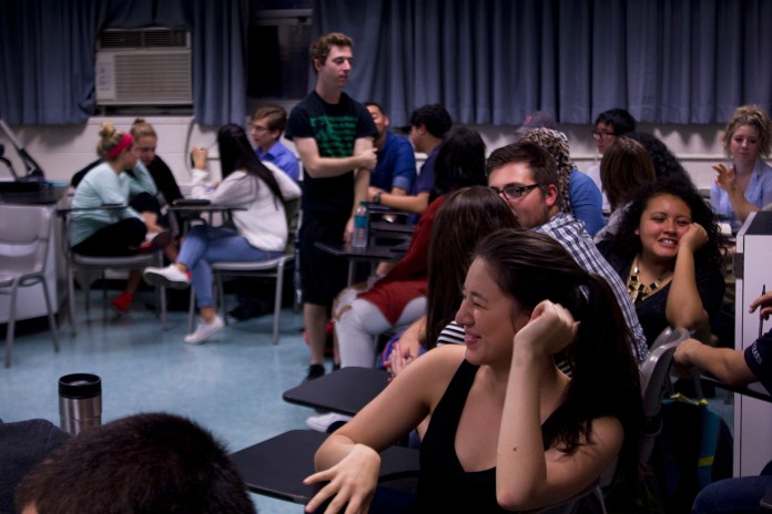 Members of the Undergradute Student Government speak during Wednesday's caucus on Oct. 7, 2015. (Marissa DiBella/The Daily Campus)