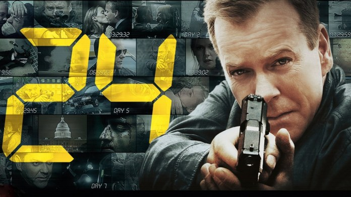 Starring Kiefer Sutherland's Jack Bauer, a rogue, take-no-prisoners white American counter-terrorism agent, the series offered loads of action, suspense and entertainment for its viewers, all under the premise that each episode took place over the course of an hour, with 24 episodes per season. (Courtesy/FOX)