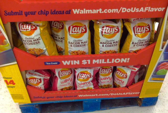 """Above shows a photo of last year's options in the Lay's """"Do us a Flavor"""" competition, which included bacon macaroni and cheese as a flavor option, a coincidence as UConn student Luke Gatti, or """"Mac and Cheese Kid,"""" grows in internet infamy.(Mike Mozart/Flickr)"""