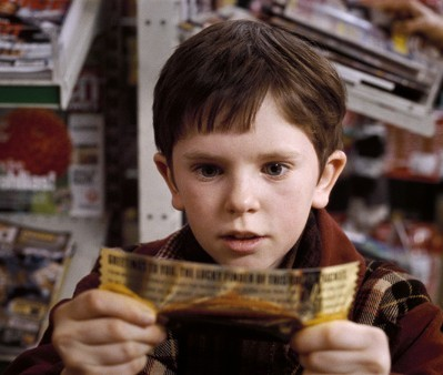 """Freddie Highmore as Charlie Bucket in """"Charlie and the Chocolate Factory,"""" one of the stories with a misleadingly loving character (Willy Wonka). (Geoffrey Chandler/Flickr)"""