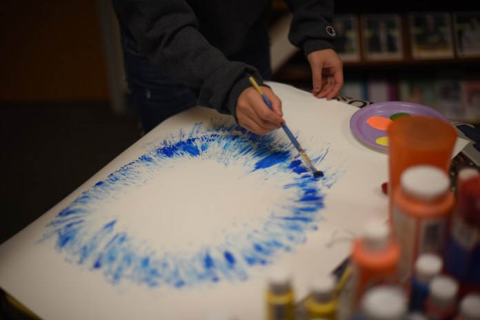 """""""Express to Destress"""" was held to encourage art therapy before finals. (The Daily Campus)"""