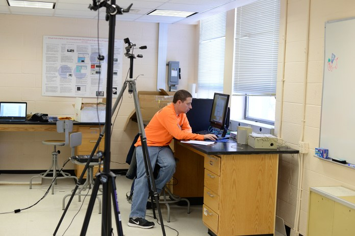 Biomedical engineering (BME) Ph.D students at the University of Connecticut are paving the way in advanced technologies to improve the physical health of adults with severe physical and intellectual disabilities. (Amar Batra/The Daily Campus)