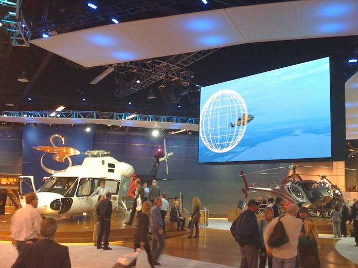 An exhibit of Sikorsky products on display. The addition of an aerospace program at UConn would lead to high paying jobs in a competitive field. (Flickr)