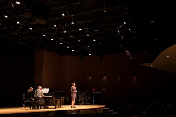 UConn student Terenia Kuzma performs during the Freshman Sophomore Voice Honors Recital at the J. Louis von der Mehden Recital Hall in Storrs, Connecticut on Saturday, Feb. 6, 2016. (Jackson Mitchell/The Daily Campus)