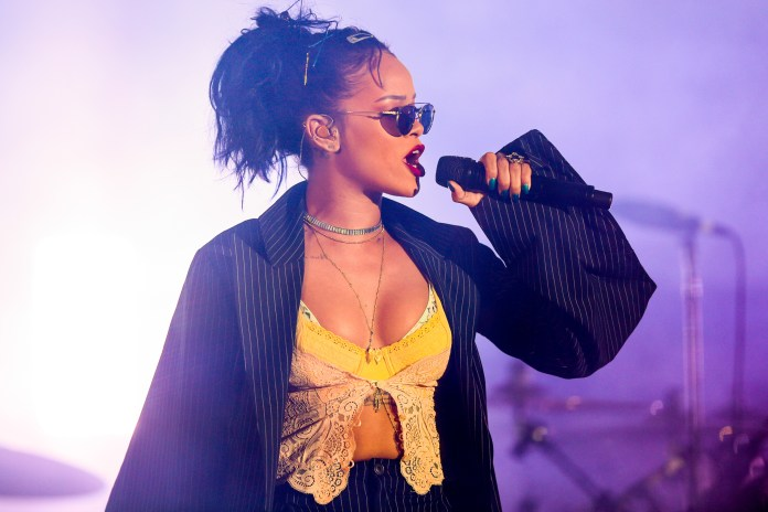 In this Oct. 24, 2015 file photo, Rihanna performs at the 2015 We Can Survive Concert at the Hollywood Bowl in Los Angeles. Rihanna will perform at the Grammy Awards on Feb. 15, 2016. (Photo by Rich Fury/Invision/AP, File)