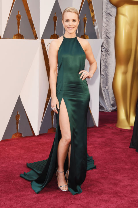 Rachel McAdams arrives at the Oscars on Sunday, Feb. 28, 2016, at the Dolby Theatre in Los Angeles. (Photo by Matt Sayles/Invision/AP)