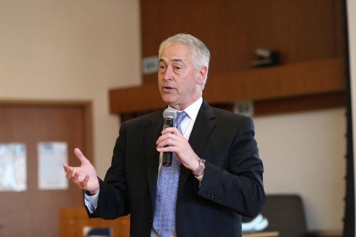 Vice President for Student Affairs Michael Gilbert (above)said the fee freeze is possible because of the growing number of fee payers. (Jackson Haigis/Daily Campus)
