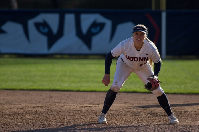 UConn softball senior first baseman Alyson Ambler. (Tyler Benton/The Daily Campus)