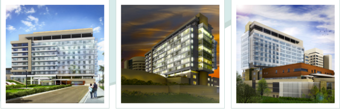 The new patient care tower, pictured above, will be built at UConn Health in Farmington. (Courtesy/UConn Health)