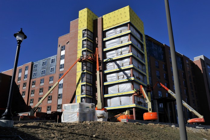 Construction will be completed by the fall for the new Next Gen dormitory for the Scholastic House Of Leaders who are African American Researchers &Scholars (ScHOLA²RS House). (Jason Jiang/Daily Campus)