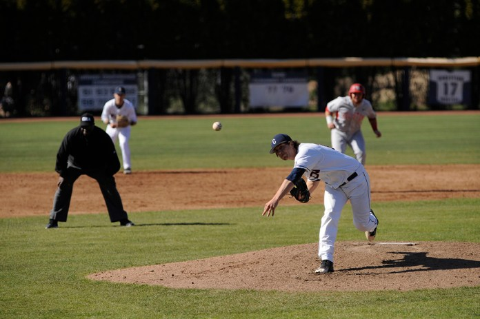 Left handed pitcher Anthony Kay delivers a pitch during his start against Houston on Friday April 15, 2016 at J.O. Christian Field. Kay is widely expected to be a first round pick in the MLB Draft. (Jason Jiang/The Daily Campus)